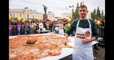 Самая большая карта Тамбовской области из пиццы