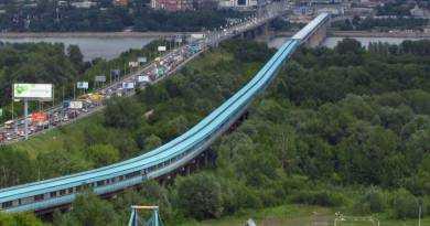 Самый длинный крытый метромост в мире