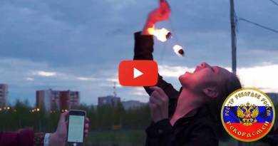 Наибольшее количество затушенных во рту факелов