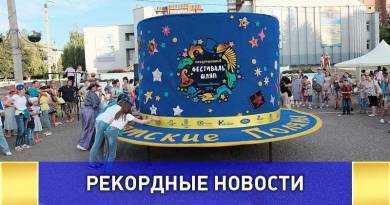 Самую большую шляпу создали в Вятских Полянах
